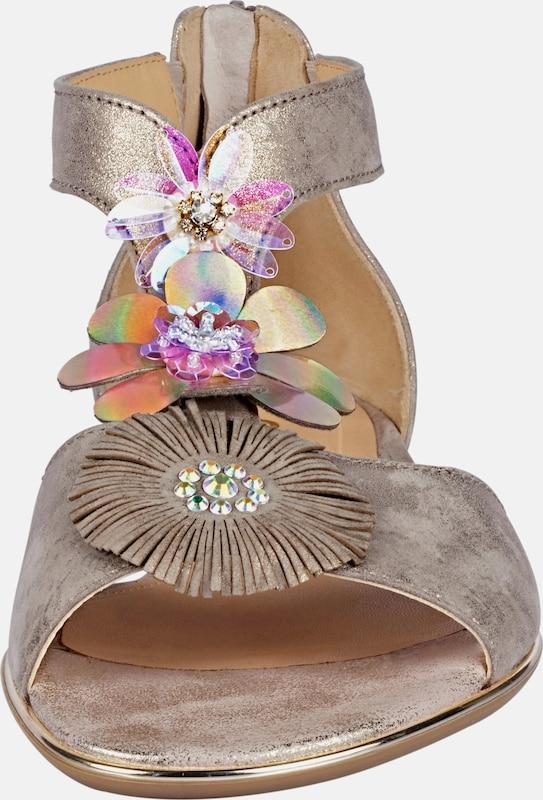 GABOR Sandalette mit Blütenapplikationen