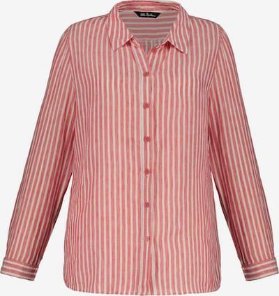 Bluză Ulla Popken pe roșu amestecat / alb, Vizualizare produs