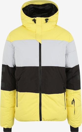 CHIEMSEE Sportjas in de kleur Geel / Lichtgrijs / Zwart, Productweergave