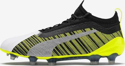 PUMA Voetbalschoen 'One 5.1 FG/AG' in de kleur Neongeel / Zwart / Wit, Productweergave
