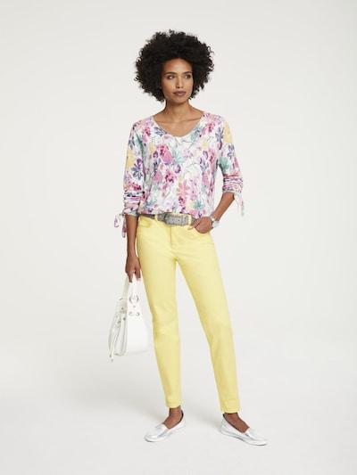 Jeans ARIZONA di colore giallo: Vista frontale