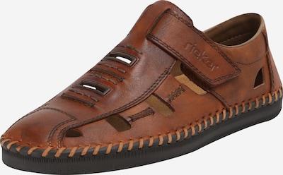 Papuci de casă RIEKER pe maro, Vizualizare produs