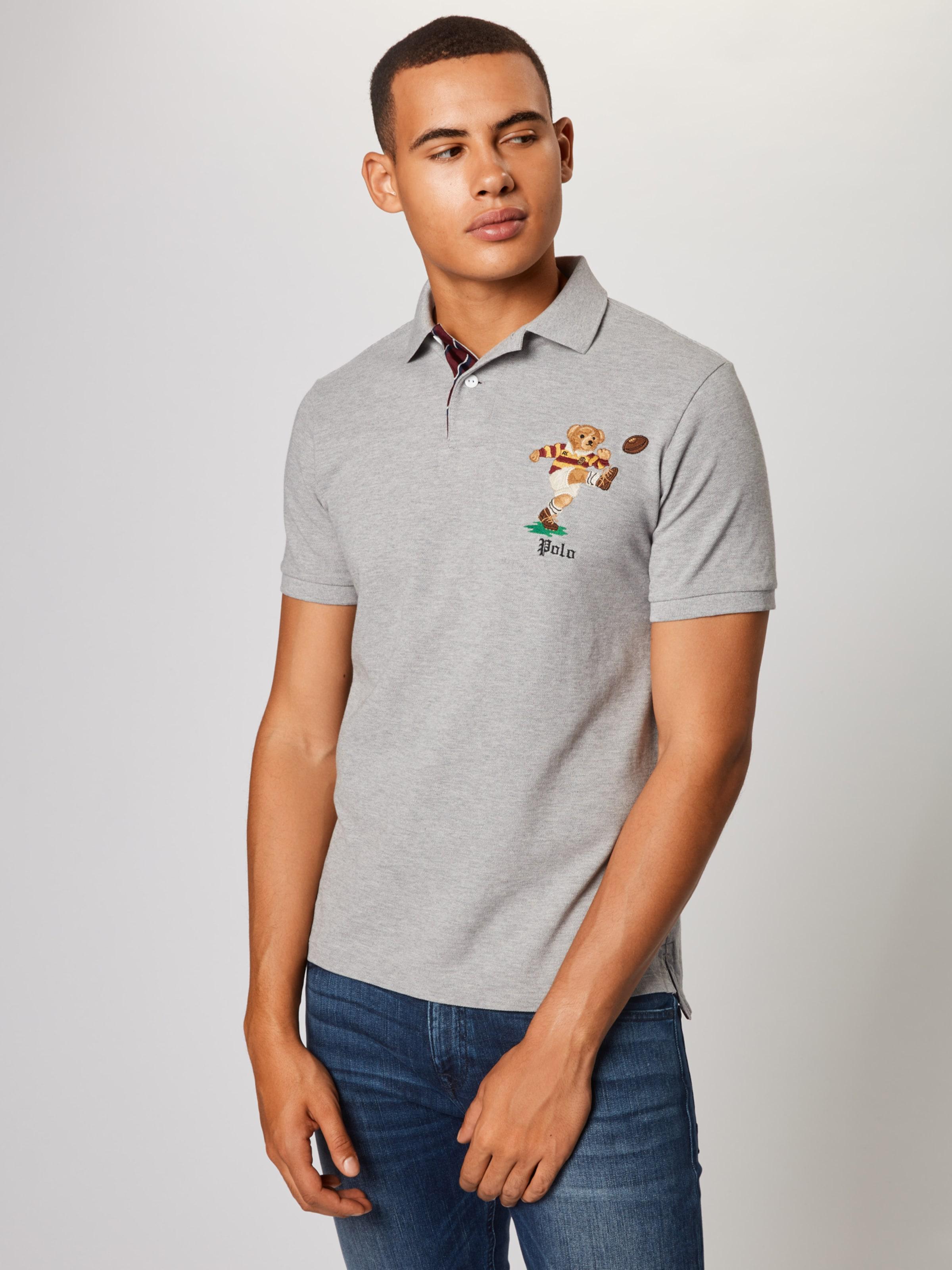 'bear' Lauren Polo Ralph T shirt En Gris WD2H9EIY