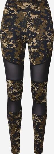 Urban Classics Curvy Leggings in beige / khaki / schwarz, Produktansicht