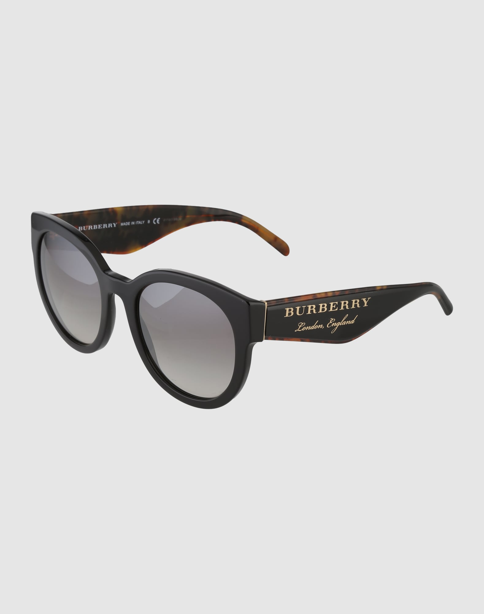 burberry sonnenbrille mit markanten b geln in schwarz. Black Bedroom Furniture Sets. Home Design Ideas