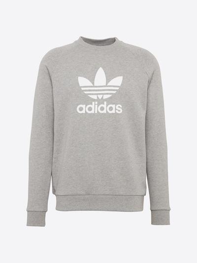ADIDAS ORIGINALS Sweat-shirt 'Trefoil' en gris chiné / blanc, Vue avec produit