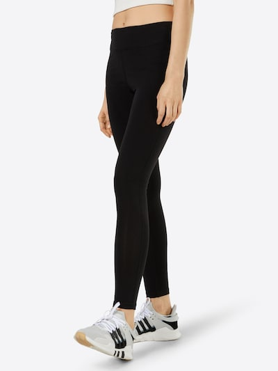CONVERSE Leggings 'REFLECTIVE WORDMARK LEGGING' in grau / schwarz, Modelansicht