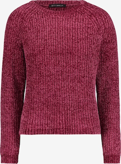 Betty Barclay Grobstrick-Pullover mit Rippenstruktur in dunkelpink, Produktansicht
