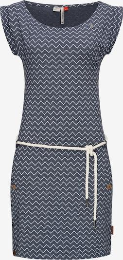 Ragwear Kleid 'Tag Zig Zag' in taubenblau / weiß, Produktansicht