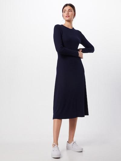 minimum Gebreide jurk 'Nanomi' in de kleur Blauw, Modelweergave