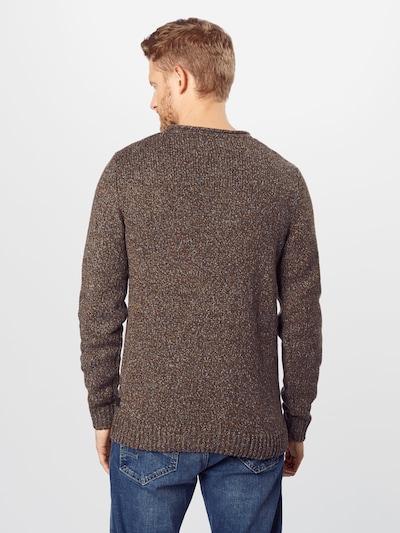 ESPRIT Sweter w kolorze nakrapiany brązowym: Widok od tyłu
