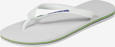 HAVAIANAS Badepantolette 'BRASIL' in weiß, Produktansicht