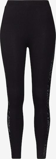 Urban Classics Leggings 'Lace Striped' en noir, Vue avec produit