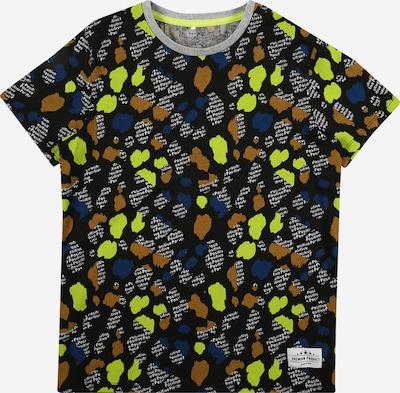 NAME IT Shirt in de kleur Neongroen / Zwart / Wit, Productweergave