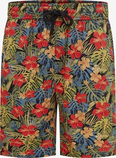 Urban Classics Shorts 'Pattern Resort' in blau / dunkelgelb / grün / rot / schwarz, Produktansicht