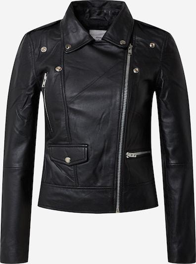 minimum Lederjacke in schwarz, Produktansicht