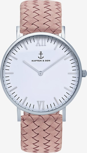 Kapten & Son Zegarek analogowy 'Campina' w kolorze różowy pudrowym, Podgląd produktu