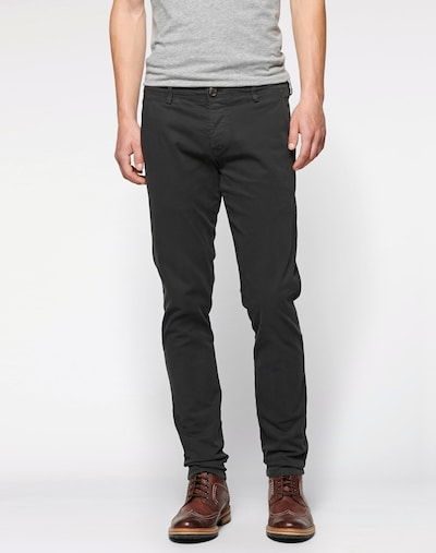 SELECTED HOMME Chino kalhoty 'One Luca Phantom' - tmavě šedá / černá, Model/ka
