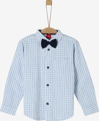 s.Oliver Junior Hemd in nachtblau / hellblau / weiß, Produktansicht