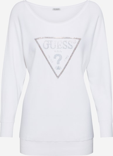 GUESS Pullover 'NADINE' in gold / silber / weiß, Produktansicht