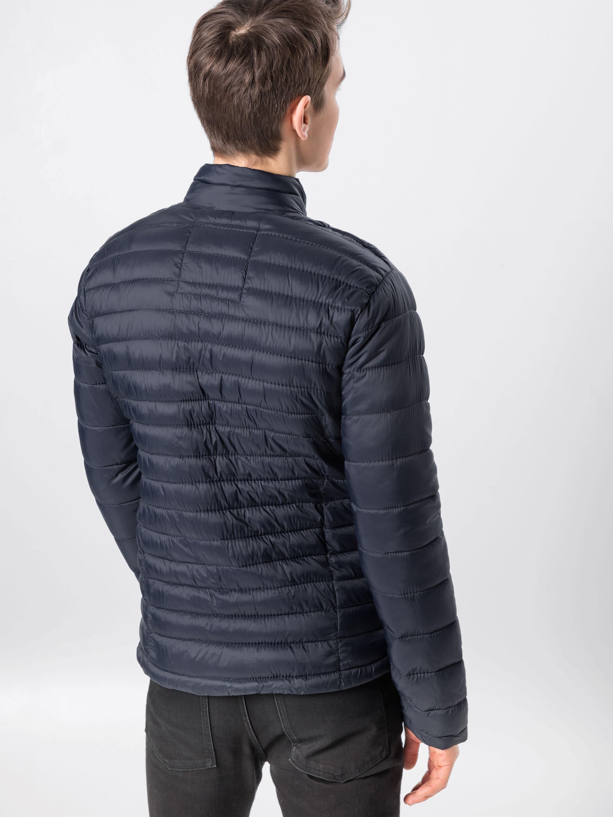 Veste Bleu En FoncéRouge Mi saison Blanc 'outerwear' Blend SGqzVUMp