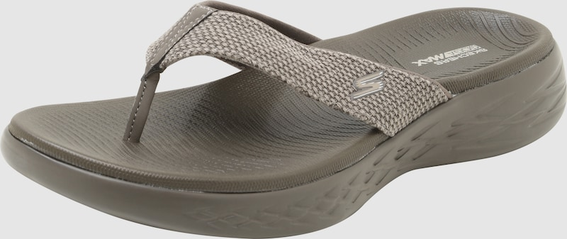 SKECHERS | Zehentreter '3 Point Distressed Canvas Sandal W/ Molded Footbed'
