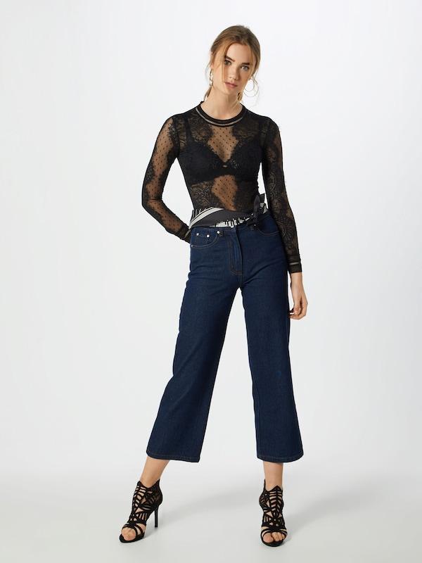 T 'opia Lace Bardot Noir shirt Bodysuit' En 3Lq5Acj4R