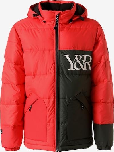 Young & Reckless Tussenjas 'Puff' in de kleur Rood / Zwart, Productweergave