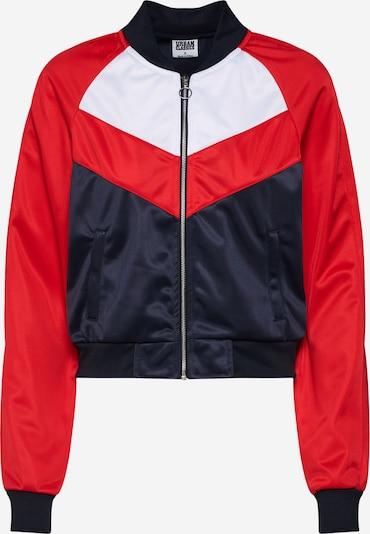 Urban Classics Jacke in navy / feuerrot / weiß, Produktansicht