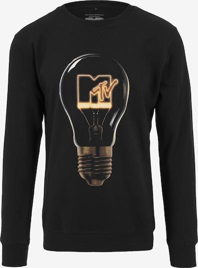 Mister Tee Sweatshirt 'MTV High Energy' in gelb / schwarz / weiß, Produktansicht