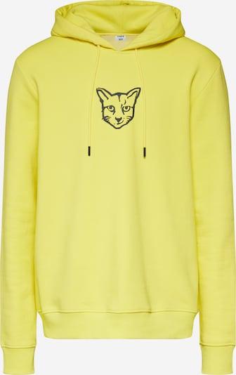 ABOUT YOU X PARI Sweat-shirt 'Finnley' en jaune / noir, Vue avec produit
