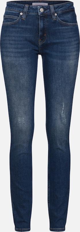 Jean 011 Mid Klein Bleu Calvin Jeans En Denim 'ckj Rise Skinny' doeCxB