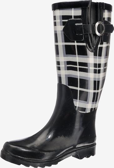 BECK Gummistiefel 'Pepita' in dunkelgrau / schwarz / weiß, Produktansicht
