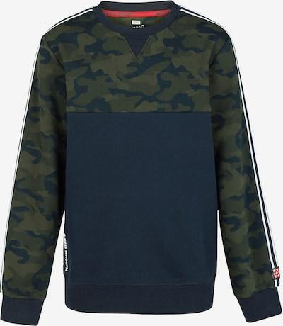 WE Fashion Sweatshirt in navy / grün / weiß, Produktansicht