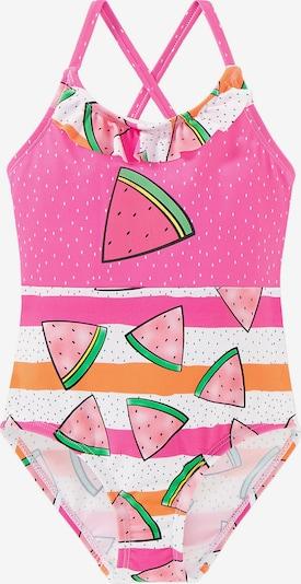 SCHIESSER Badeanzug in mischfarben / pink, Produktansicht