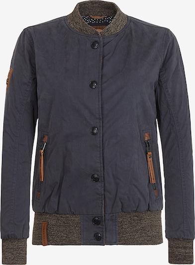 naketano Jacke in dunkelblau / braun / graumeliert, Produktansicht
