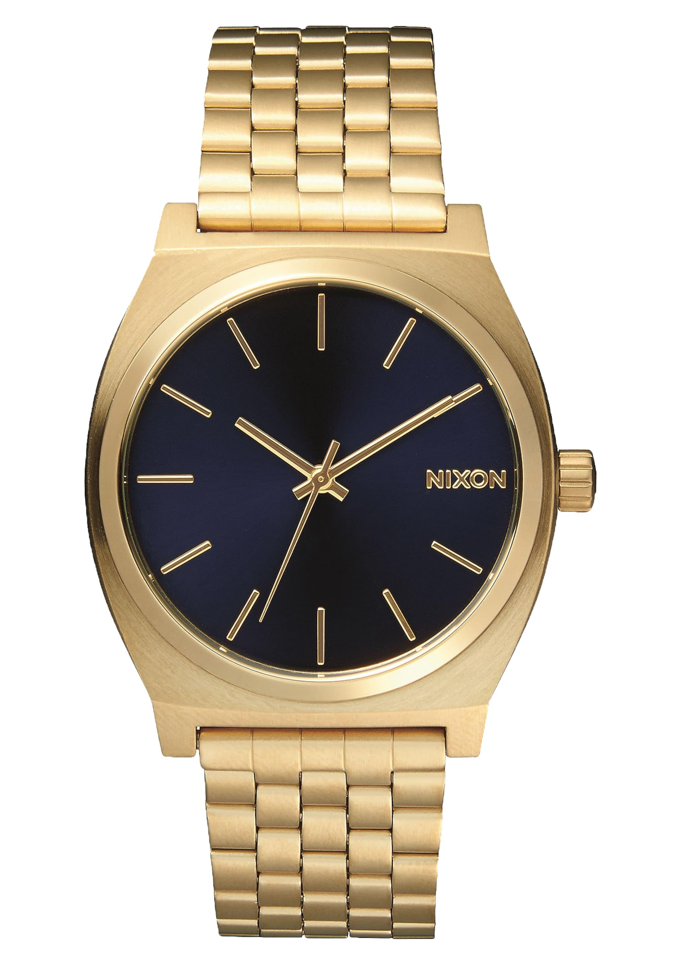 In Teller' Analoog 'time Nixon Horloge DonkerblauwGoudgeel tChQBdsrx