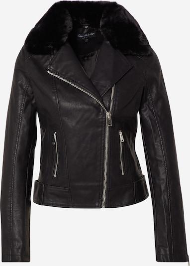 Miss Selfridge Prehodna jakna 'FUR COLLAR PU JACKET' | črna barva, Prikaz izdelka