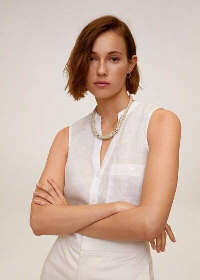 MANGO Hemd in weiß, Modelansicht