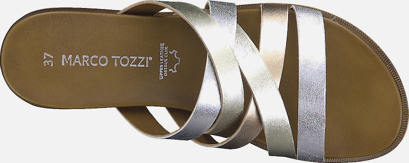 MARCO TOZZI Pantolette in gelb gold silber | ABOUT YOU