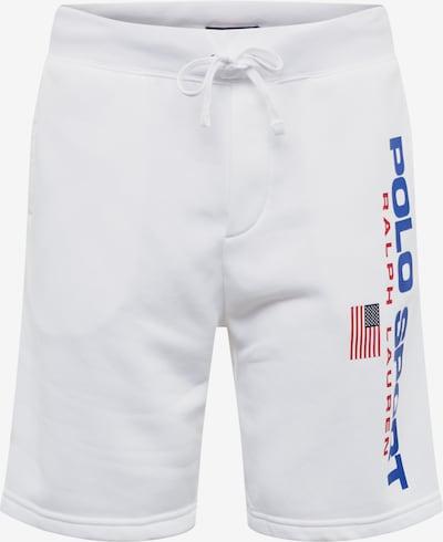 POLO RALPH LAUREN Pantalon 'NEON FLEECE-SHO' en bleu foncé / blanc, Vue avec produit