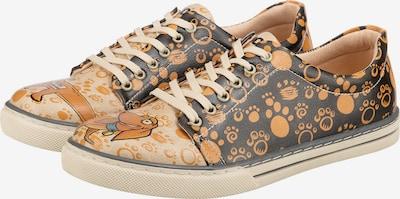 DOGO Sneaker 'To be continued' in beige / cognac / dunkelgelb / schwarz, Produktansicht