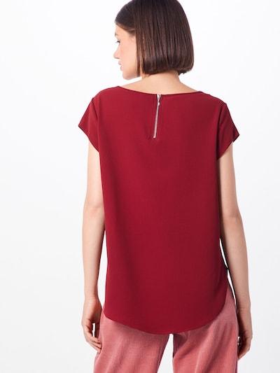 ONLY Shirt in de kleur Wijnrood: Achteraanzicht