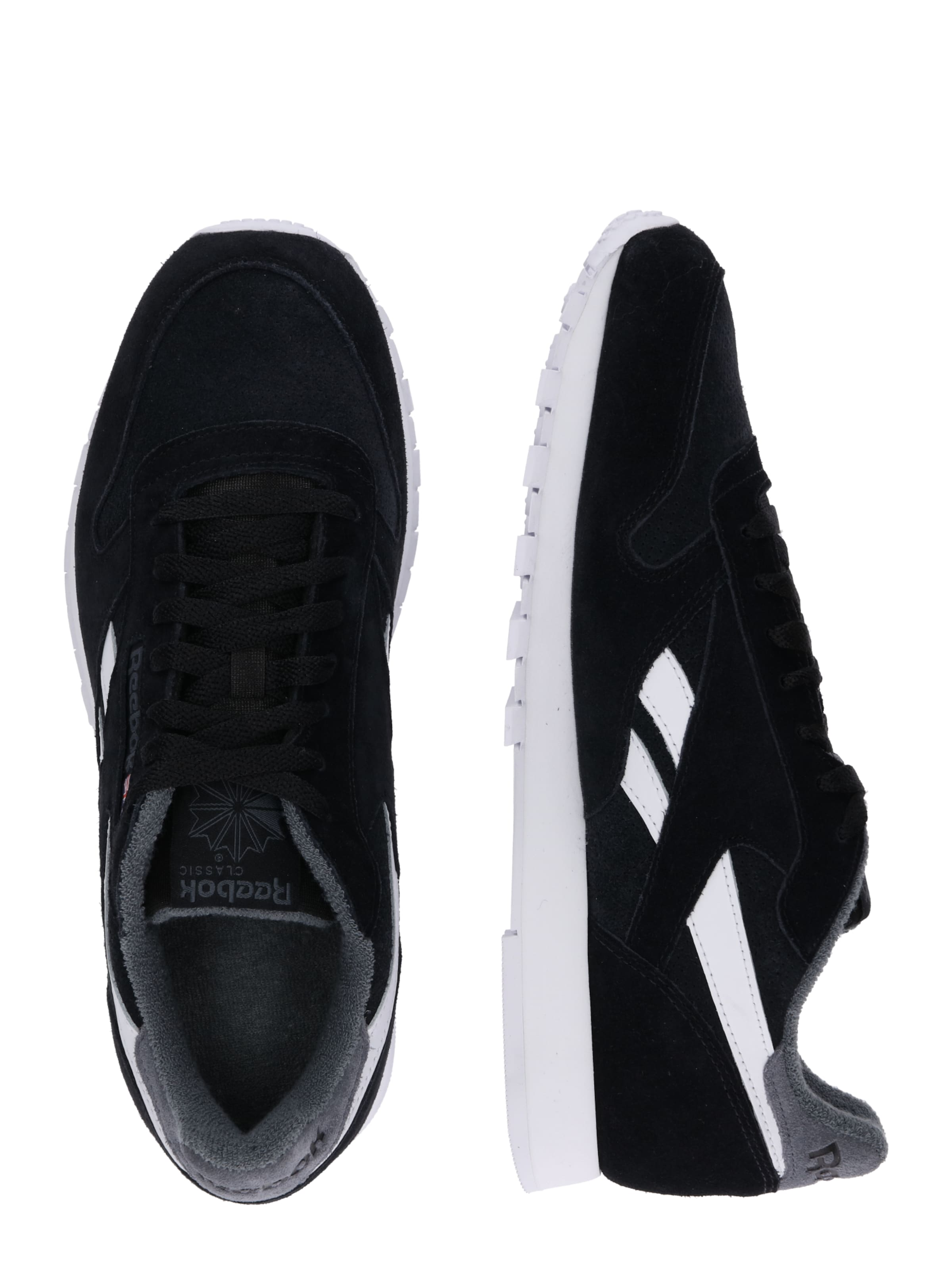 In Sneaker Reebok GrauSchwarz Classic 'cl' otdxshQrCB