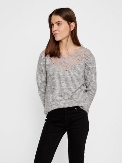 Megztinis iš VERO MODA , spalva - šviesiai pilka / margai pilka: Vaizdas iš priekio