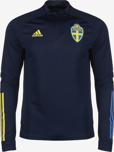 ADIDAS PERFORMANCE Sweat de sport 'Schweden EM 2020' en bleu / bleu foncé / jaune, Vue avec produit