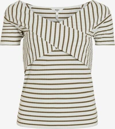 OBJECT Shirt in oliv / weiß, Produktansicht