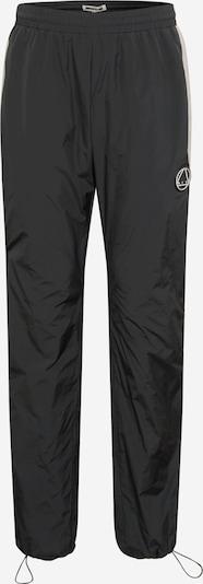 McQ Alexander McQueen Kalhoty - černá / bílá: Pohled zepředu