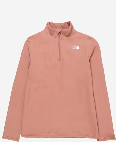 THE NORTH FACE Sport-Pullover 'Glacier' in altrosa / weiß, Produktansicht