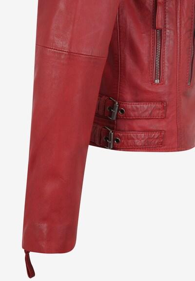 7ELEVEN Lederjacke 'MICHI' in rot, Produktansicht